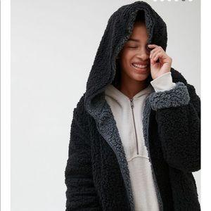 BDG carmella reversible hooded teddy jacket